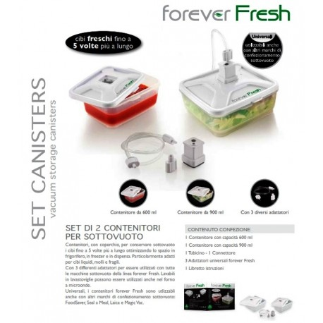 Forever Fresh set 2 Contenedores + Tubo adaptador