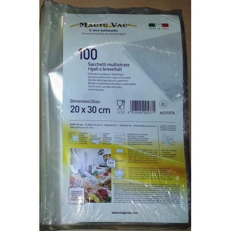 Magic Vac 20x30 Pack 100 Bolsa Rallada