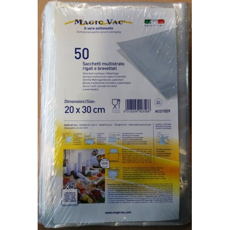 Magic Vac 20x30 Pack 50 Bolsa Rallada