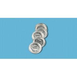 Lote 12 tapas aluminio para tarro vidrio conserva Leifheit