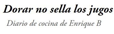Blog de Cocina de Enrique B.